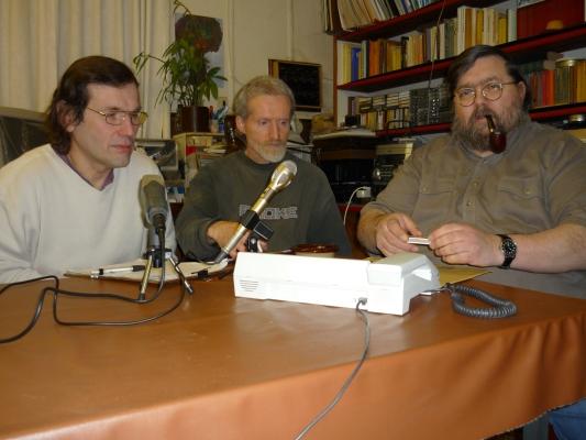 SB-Redakteure beim Telefoninterview mit A. Schüler vom Einstellungsbündnis.