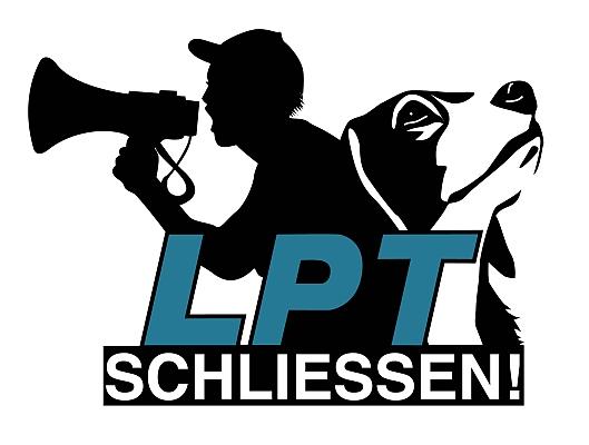 Kampagnenlogo von der Webseite 'LPT schliessen!'